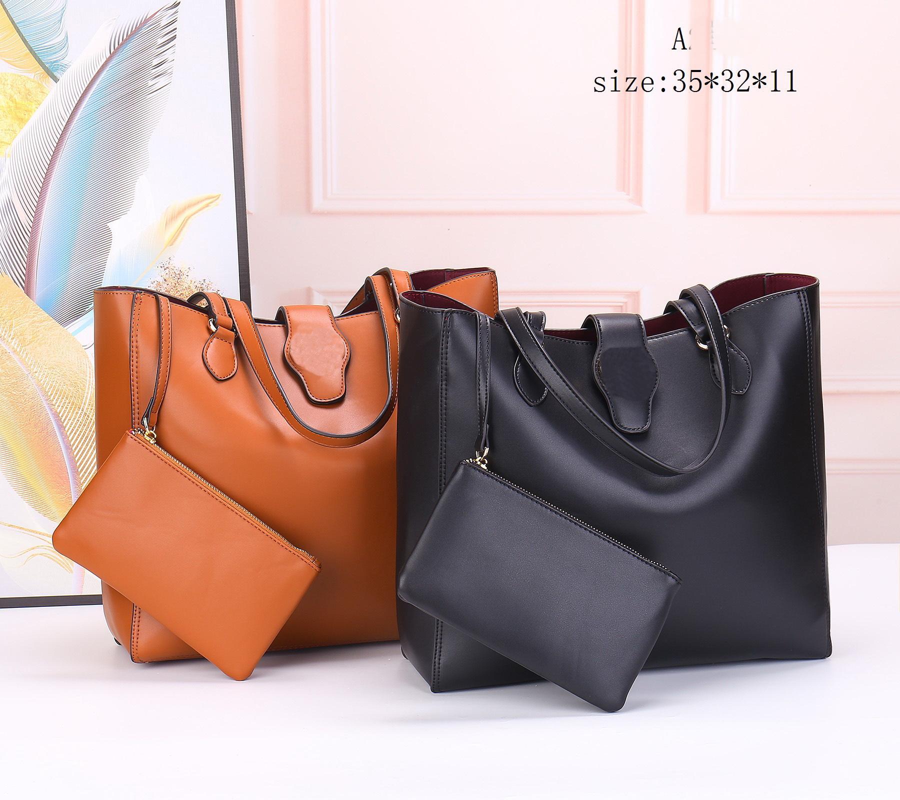 Top Quality fashion Womens black handbag bag large-capacity leather tote bags shoulder bagc handbags Chain bagv Orange bage Shopping bagsa Drawstring wallet