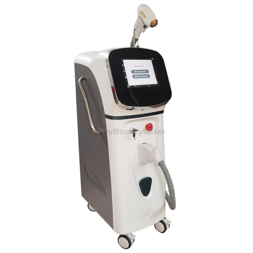 300W 500W High Quality Diode Laser Hair Removal Machine 808nm Alexandrite Epilation Soprano Lazer Hairs Elimination Lightsheer Machines Clinic Use