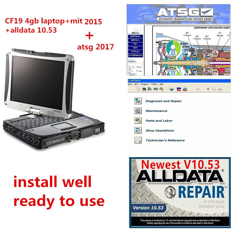 Alldata soft-ware v10.53 mit...ll 2015 and ATSG 2017 3 in1TB hdd installed well in cf19 4GB laptop ready to use