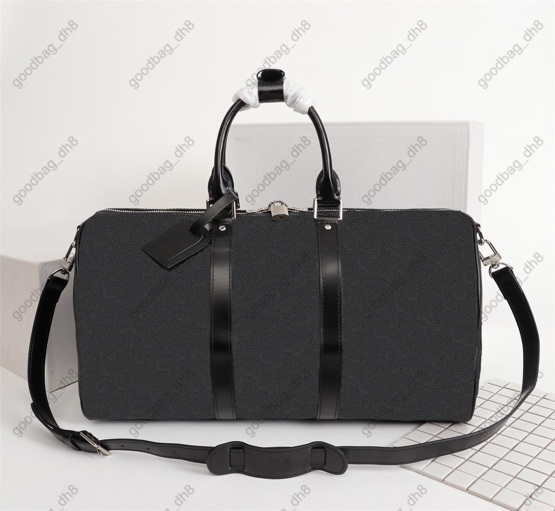 Man women travel bag duffle bags large capacity sport pu leather luggage handbags 50cm 55cm M41418 M41416 M41414