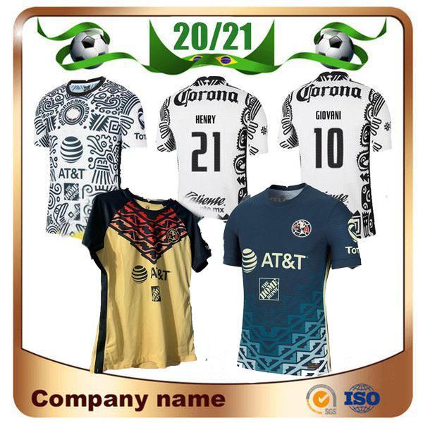 2021 Liga MX Club América futebol jerseys 20/21 3º 10 # c.dominguez 24 # O.peralta 22 # p.aguilar camisa de futebol uniforme