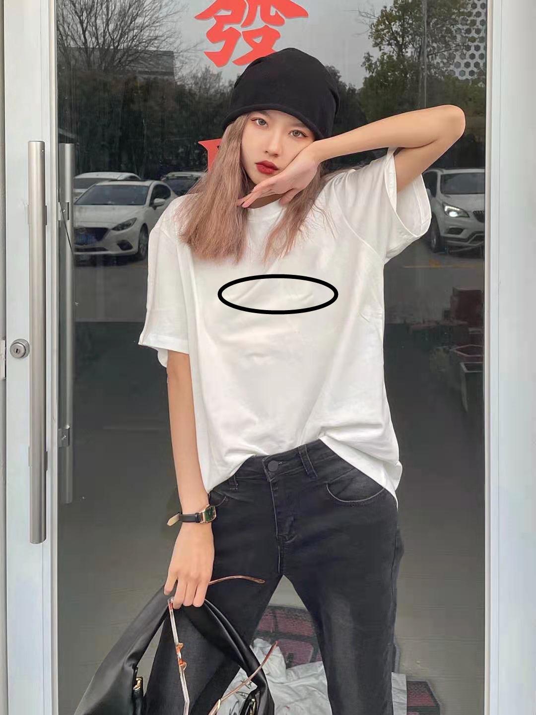 Mujeres para hombre camisetas verano camiseta 2021 de manga corta de lujo de la marca de la marca de la marca de la marca de la moda del algodón Hip Hop Lady Casual Ropa 173