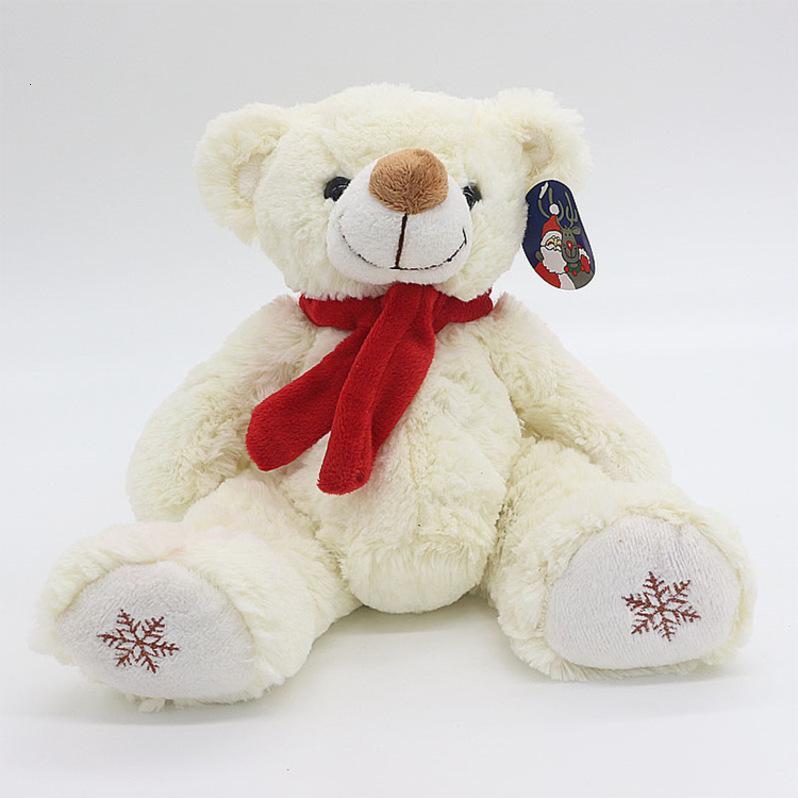 Peluches peluches poupées physiques poupées poupée d'épaule de Noël foulard rouge 30cm broderie assis