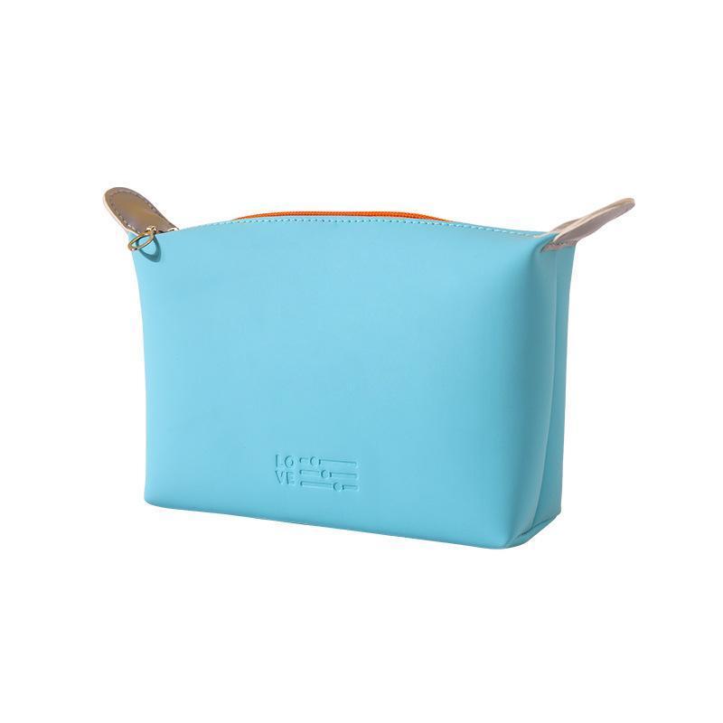 Sac à cosmétiques Waterproof Travel Toturing Toilette Couleur Solide Femmes Organisateur de maquillage Négociée Sacs de stockage à glissière Sacs