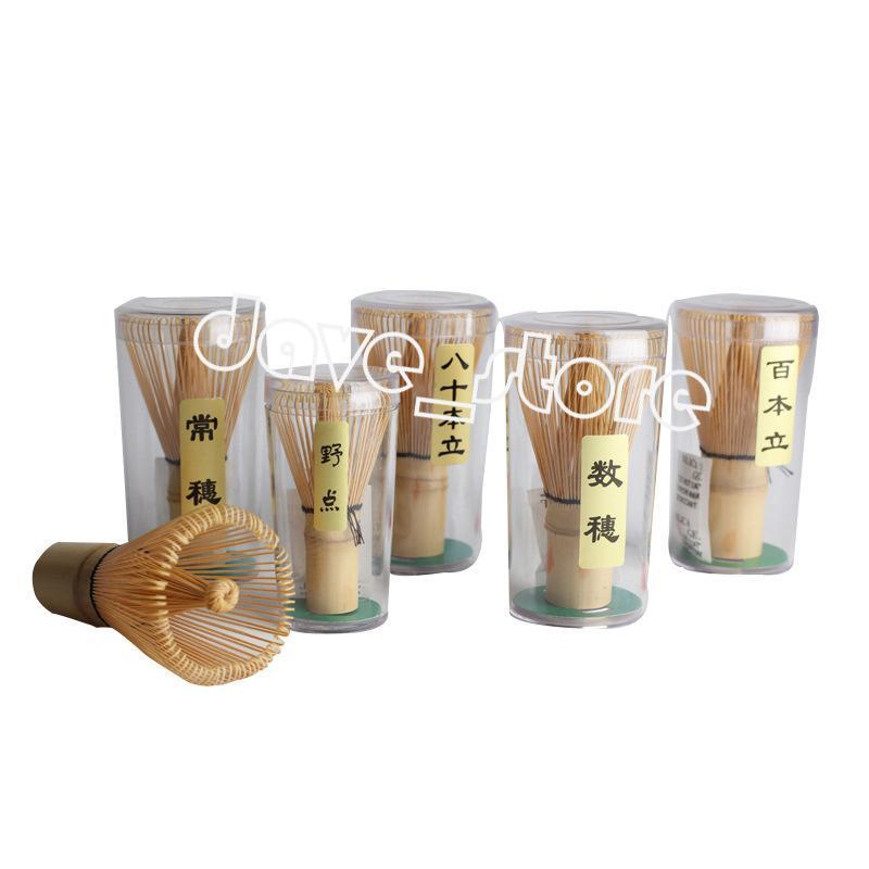 Bambus Tee Whisk Natural Matcha Whisks Werkzeuge Professionelle Rührbürste Tees Zeremonie Werkzeugbürsten 8 Stil