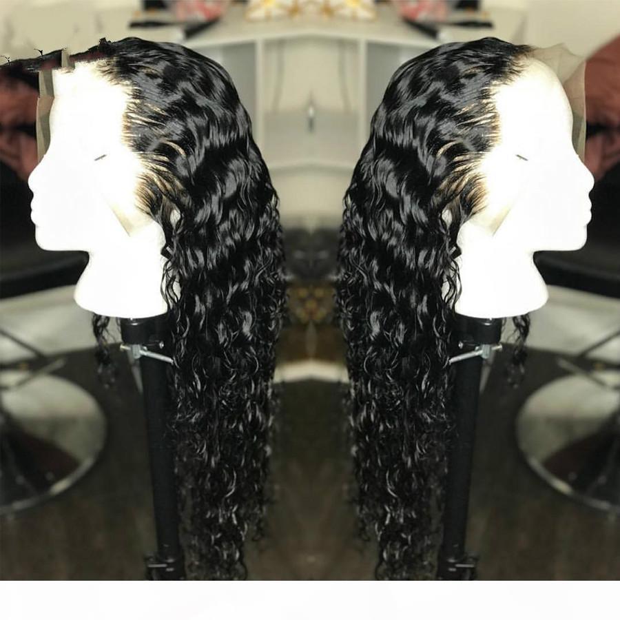 Pelucas de pelo humano frontal de encaje rizado Peluca de pelo blanqueado Ración mediana 13 * 4 con pelo para bebés para mujeres 130 densidad sin remitir