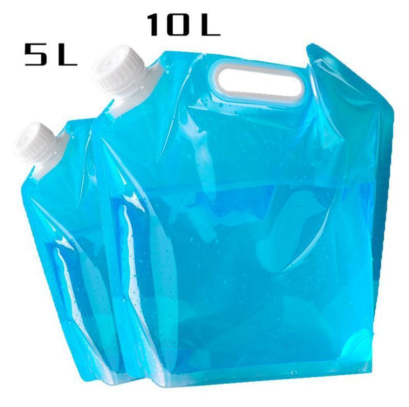 수화 팩 5L / 10L 야외 워터 백 접이식 접이식 접이식 마시는 캠프 요리 컨테이너 가방 캐리어 자동차 탱크