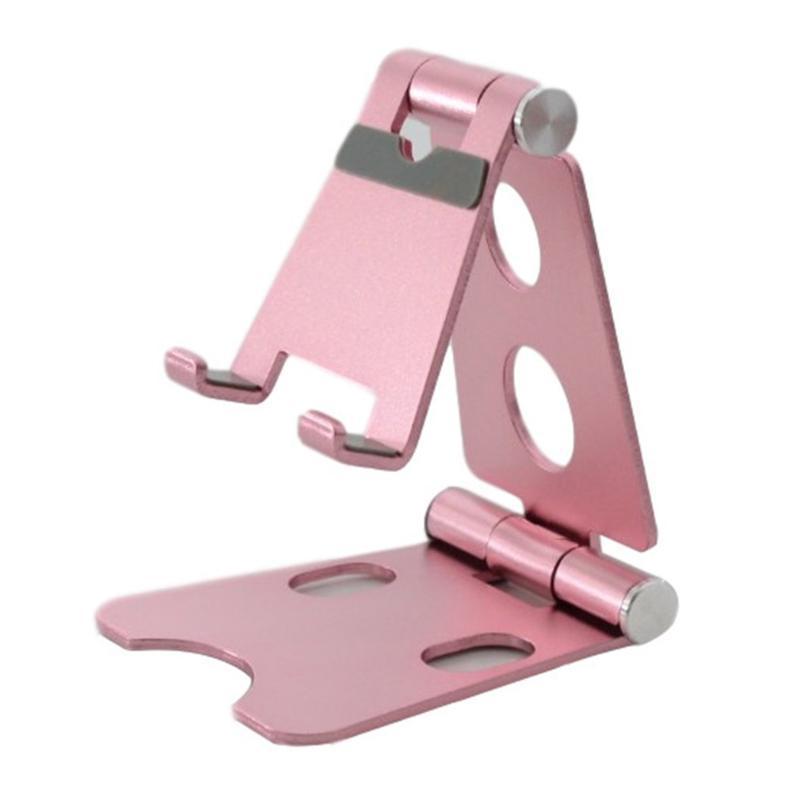 Suporte de alumínio do suporte de alumínio do suporte do telefone móvel do ajuste duplo dobrável