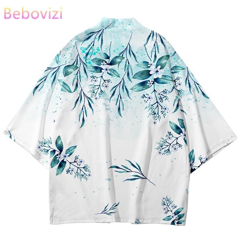 Plus Größe XXXL 6XL 5XL 4XL Lose Japanische Streetwear Strethigan Frauen Männer Harajuku Haori Kimono Cosplay Top Shirts Yukata Tao Robe 210603