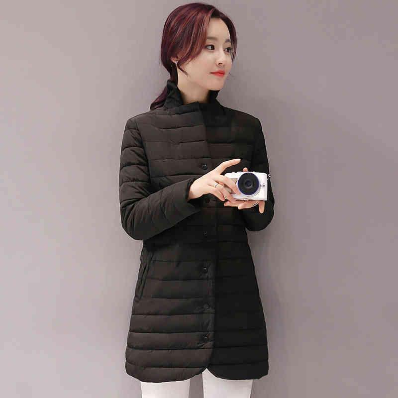2021 inverno nuovo casual cappotti caldi neri sottile grande taglia xxxl giacca di cotone femminile moda sottile lunghe donne