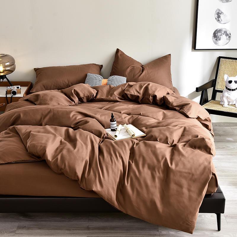 Bedding Sets Bonenjoy Bed Sheet Set King Size Plain Queen Cover Solid Color Duvet With Pillowcase Kit