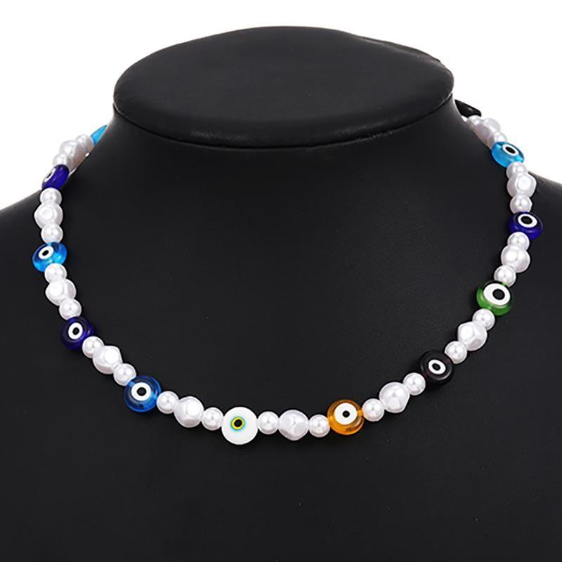Einfache Gothic Barocke Perle Choker Halskette für Frauen Luxus Retro Weibliche Hochzeit Schmuck 2021 Collares Chokers