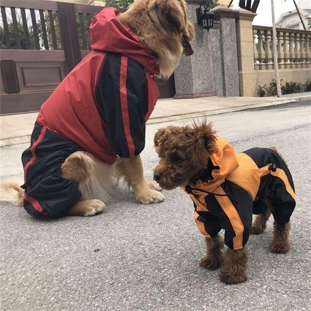Neue Haustier Hund Kleidung Regen Schnee Mäntel Wasserdichte Regenmäntel 4 Beine Regenmantel für kleine mittelgroße Hunde 201028