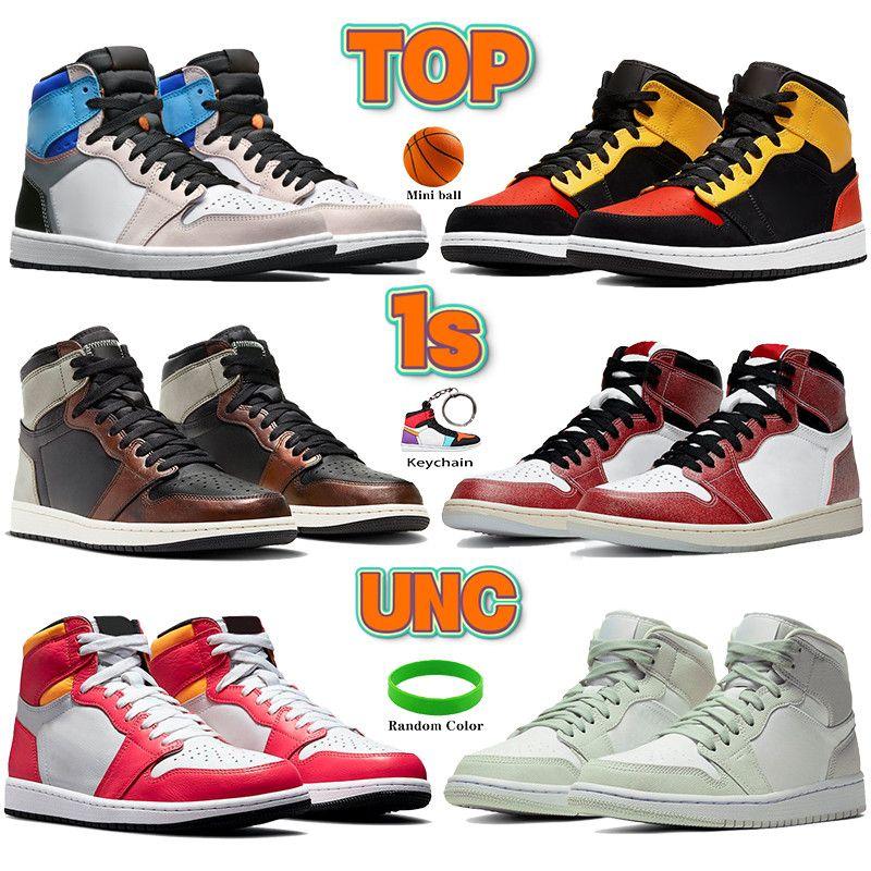 Meilleur 1S Chaussures de basketball Wolf Grey Sail Hommes Femmes Sneakers Los Angeles Black Toe Zoom Sneakers noirs sans peur avec boîte