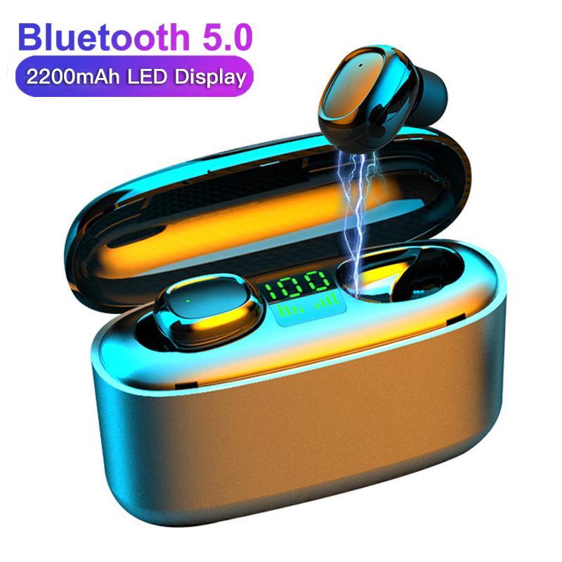 3500mAh بقيادة سماعات بلوتوث لاسلكية سماعات سماعات سماعات G5S TWS Touch Control الرياضة سماعة الضوضاء إلغاء سماعة سماعة