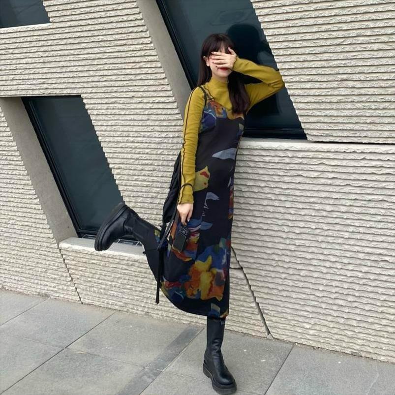 Vintage Harajuku Tie Dye Womens Dress Slip Retro Summer Verano Y2k Long Dresses For Women Casual Set One Piece Junior