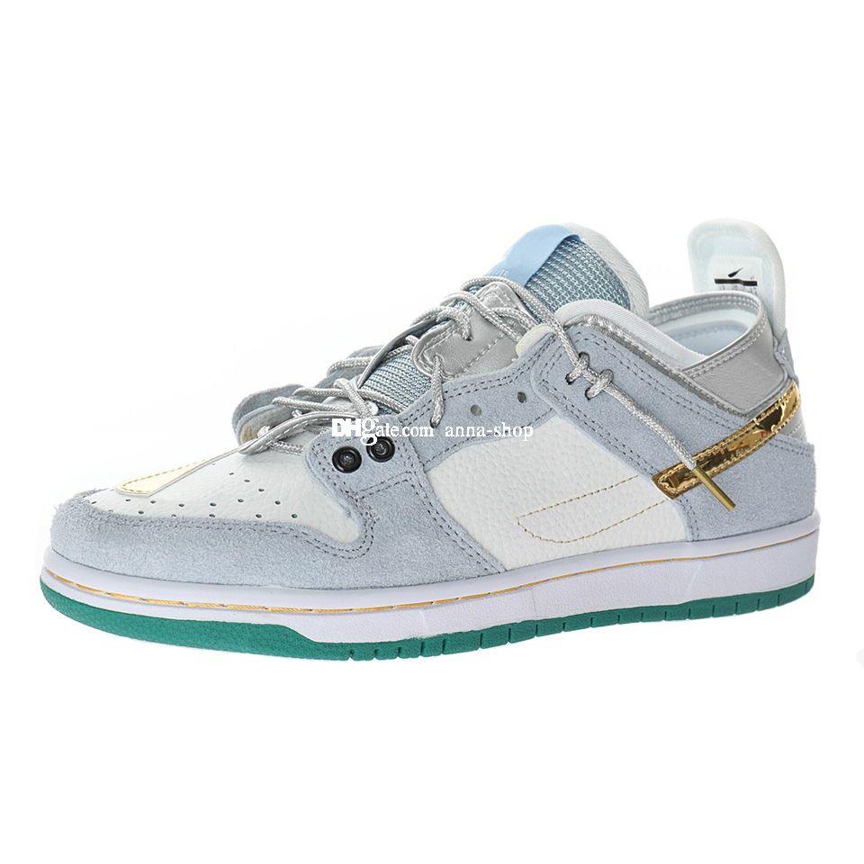 Jumpman Ziv Lee Sean Aliver Dunks Basso scarpa da skate personalizzata per uomo Ejder Sneaker Mens Skates Sneakers Delle Sneakers Delle Scarpe sportive Donne Sport Sport Skateboard DC9936-100