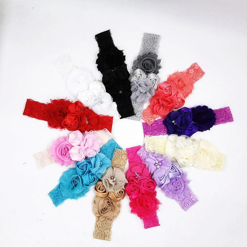 Lindo bebé niños niños color sólido color turbante accesorios para el cabello elastic Hairbands Fashion Bandanas Head Wrap