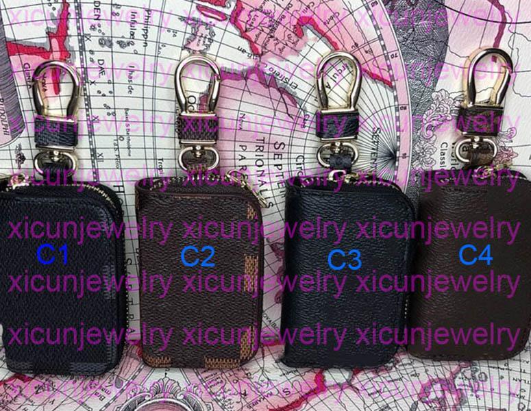 패션 키 버클 자동차 디자이너 키 체인 수제 편지 가죽 키 체인 남성 여성 지갑 가방 펜던트 액세서리 4 색