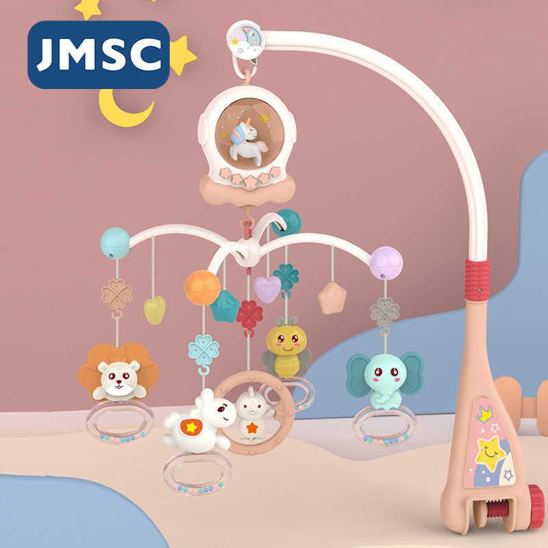 JMSC Baby Remote Cribel Mobiltelefone Mobiles Music Pädagogisches Rotierendes Bett Glocke Nachtlicht Rotation Karussellbetten 0-12m Neugeborene