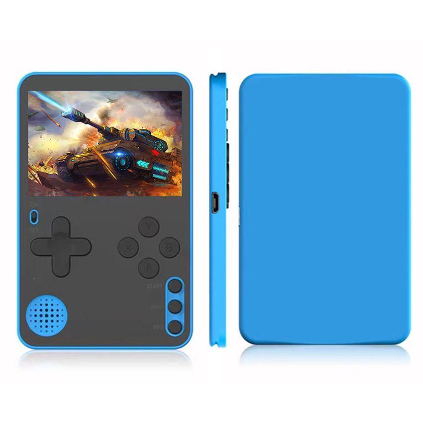 K10 미니 휴대용 비디오 게임 콘솔 플레이어 내장 500 레트로 클래식 게임 울트라 얇은 6.5mm 포켓 플레이어 게임을위한 선물 성인