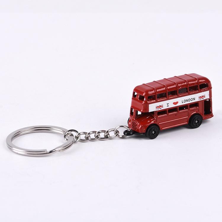 Llavero Doble ciervo autobús estilo británico regalo