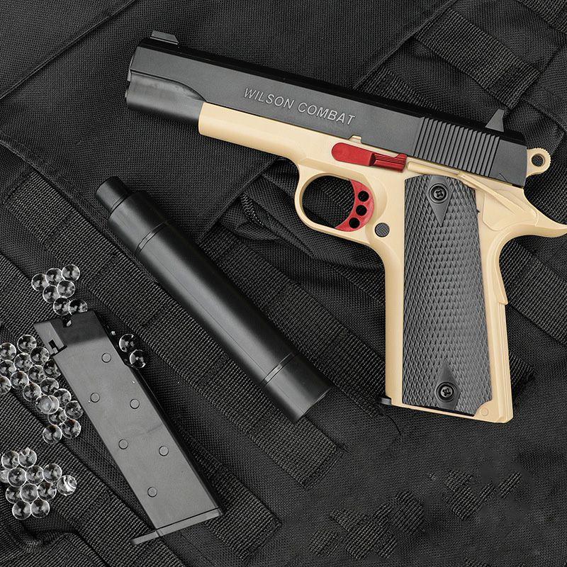 M1911 Wasser-Bullet-Kristall-Bomben-Handwerkzeugpistole Silah mit Kugeln für Erwachsene Kinder Blaster Pistole Outdoor-Spiele