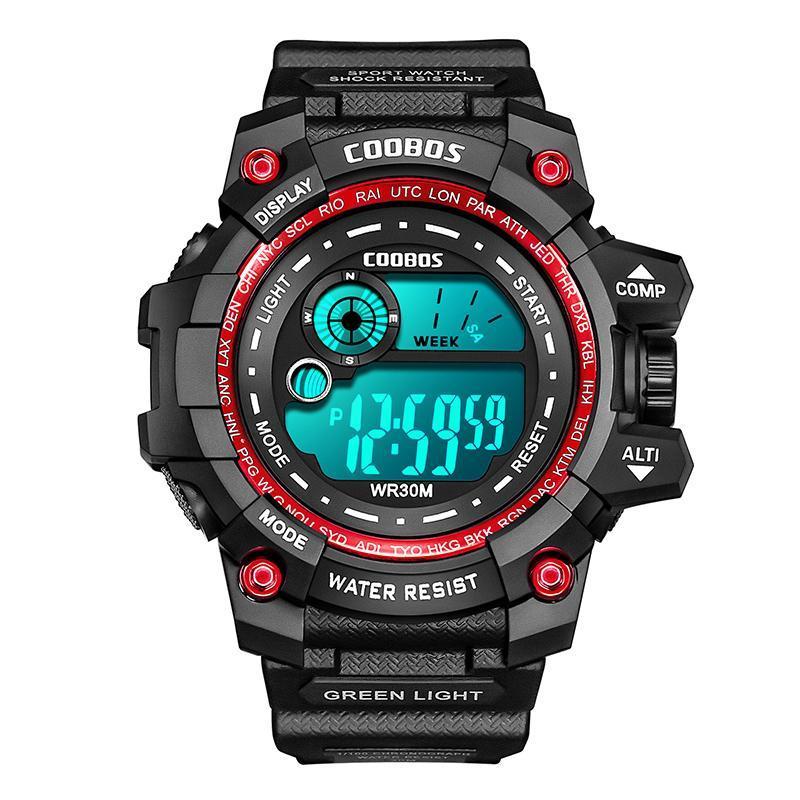 Assista para masculino Multifuncional Esporte Exército Digital Moda Homens Levado Calendário Luminoso Pulso Militar À Prova D 'Água 2021 relógios de pulso