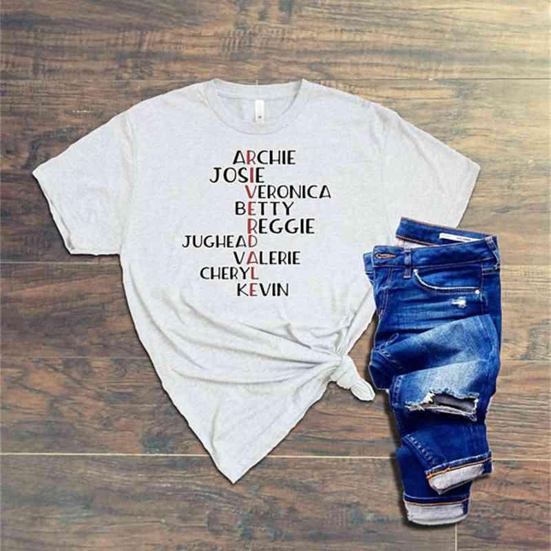Fashion Tv Show Riverdale Funny Graphic Tee Shirt New 2020 Summer Women T-shirt Letter Print White Tops Tee Harajuku Tshirt