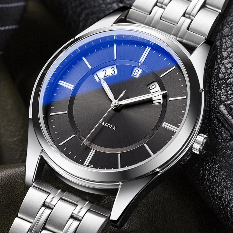 Top Moda Calendario Reloj de cuarzo Relojes Hombre Reloj Masculino Muñeca Muñeca Hodinky Relogio Masculino Relojes de pulsera
