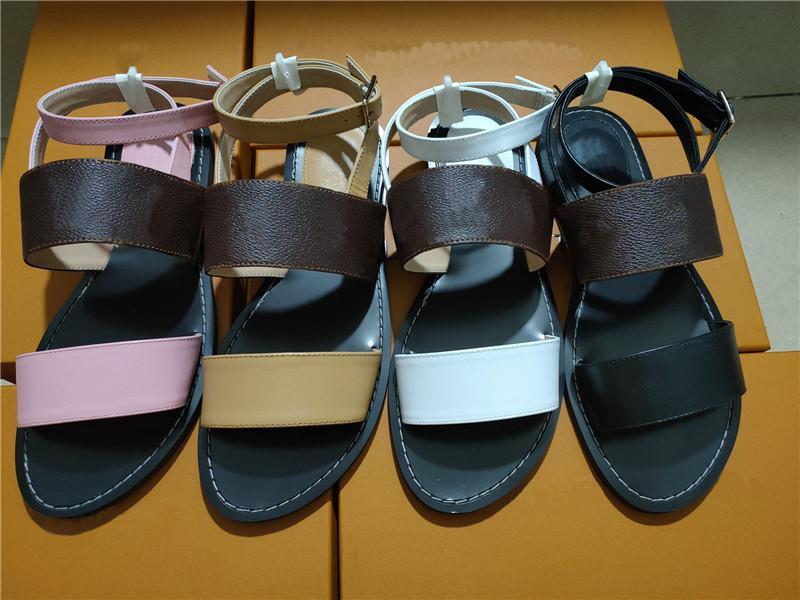 2021 Sandali da donna di lusso Sandali Designer Casual Scarpe Casual Summer Beach Spiaggia da donna Sandalo Sandalo Sandalo Piattaforma di Alta Qualità Arcade Sneakers appartamenti antiscivolo