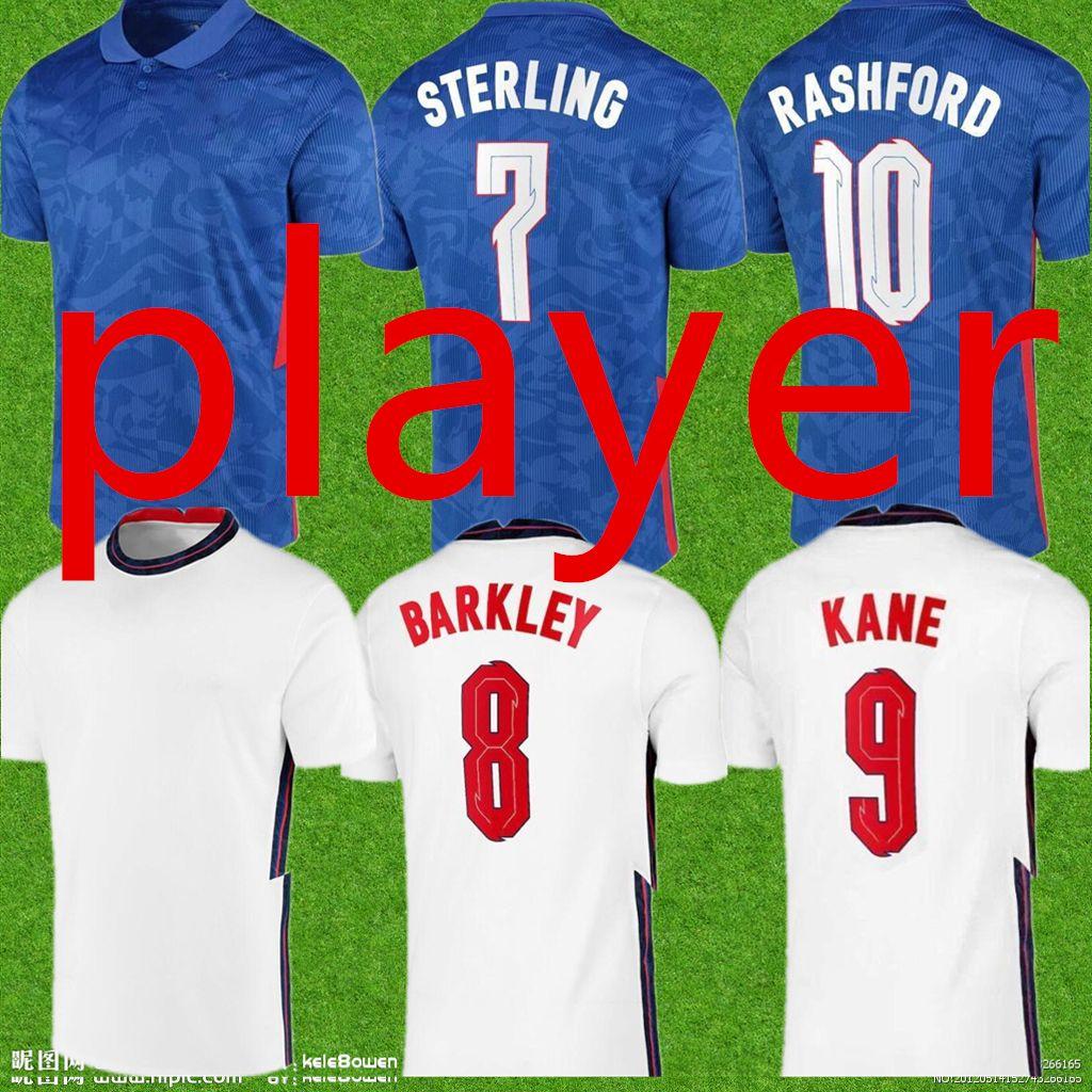 لاعب 2021 Roshford 10 # 9 Kane Soccer Jerseys Sterling # 7 Sterling Rooney Sturridge Henderson Vardy كرة القدم قمصان Sale Dele Sancho Barkley Rose