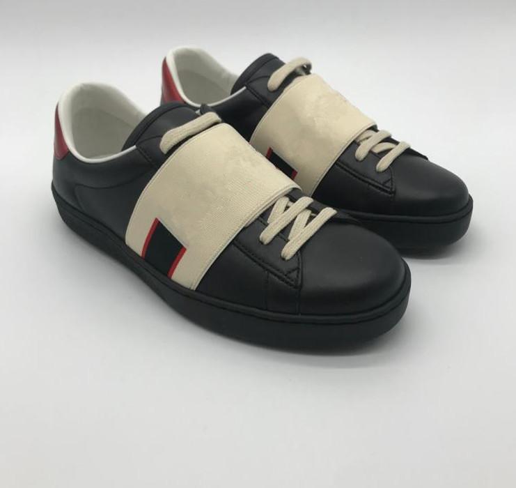 عالية الجودة أحذية رجالي عارضة الأسود ايس الأخضر الأحمر شريط إيطاليا النحل تايجر ثعبان النساء حذاء رياضة المدربين chaussures صب أوم مع مربع