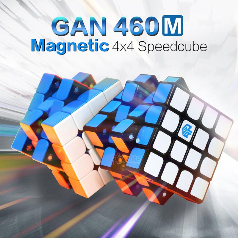 GAN460M المكعب المغناطيسي 4x4x4 ماجيك مكعب 4x4 gan460m سرعة مكعب 4x4 المهنية كوبو ماجيكو لغز 4x4x4 شامل غان