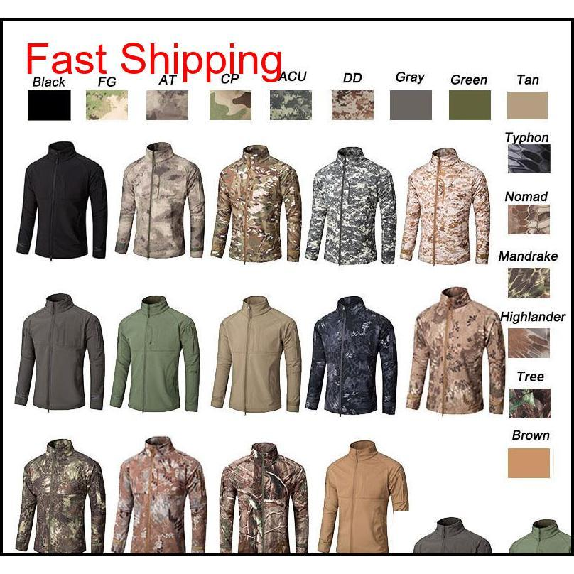 Jackets Outerwear Gear Clothes Woodland Hunting Shooting Tactical Camo Coat Combat Clothing Camouflage Windbreaker Softshell Outdoor J