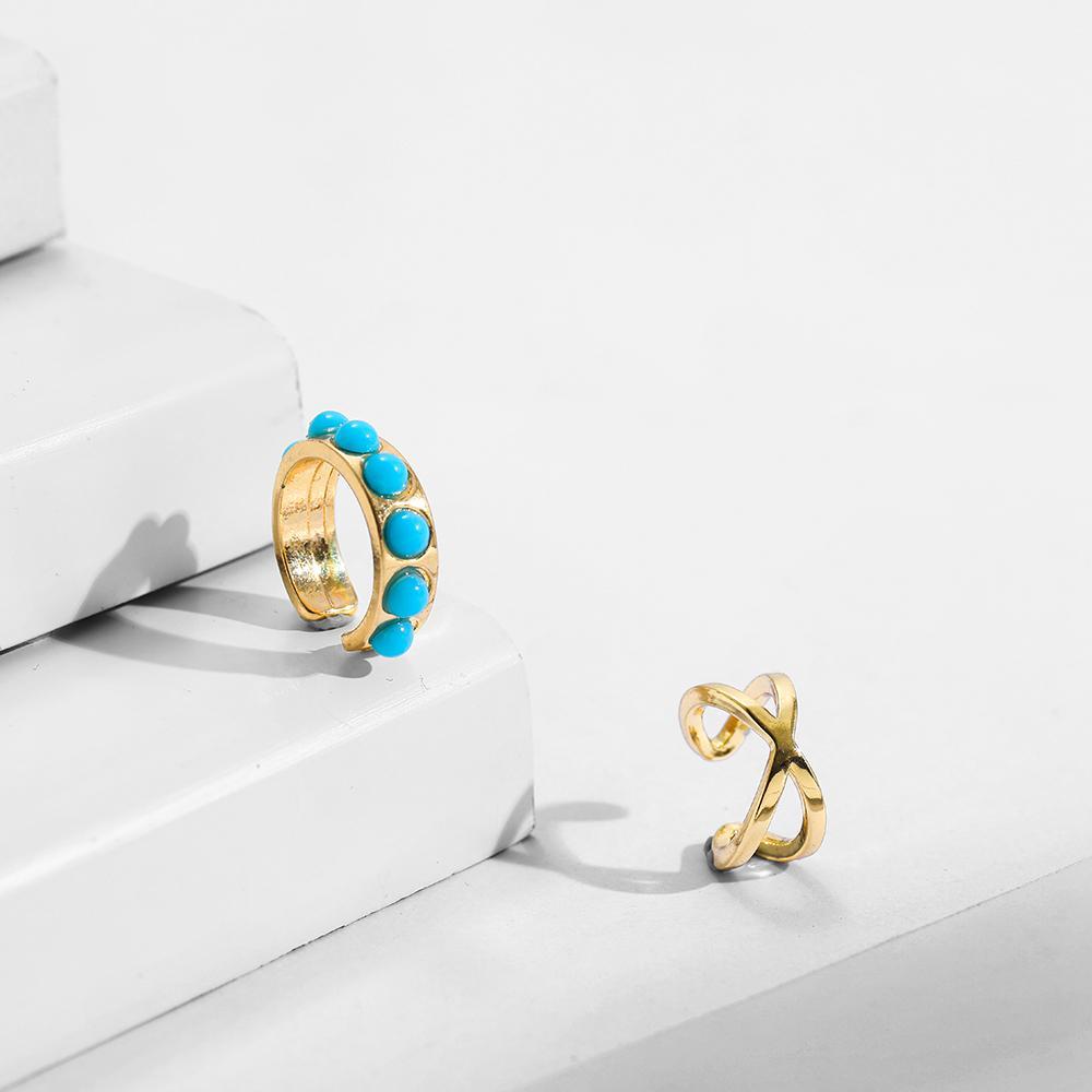 2020 جديد الأذن صفعة الغضروف الأقراط للنساء العصرية الأخضر حجر كليب على الأقراط دون ثقب الأذن مجوهرات هدية