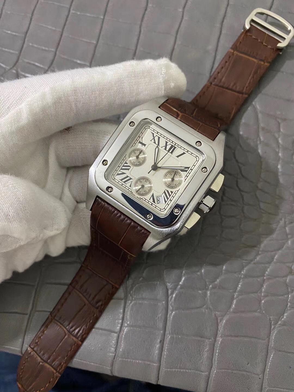 Top Luxury Watch Factory Vending Funzione da uomo di alta qualità Full Function Running Seconds Quartz Cronografo Movimento Acciaio inossidabile alla moda