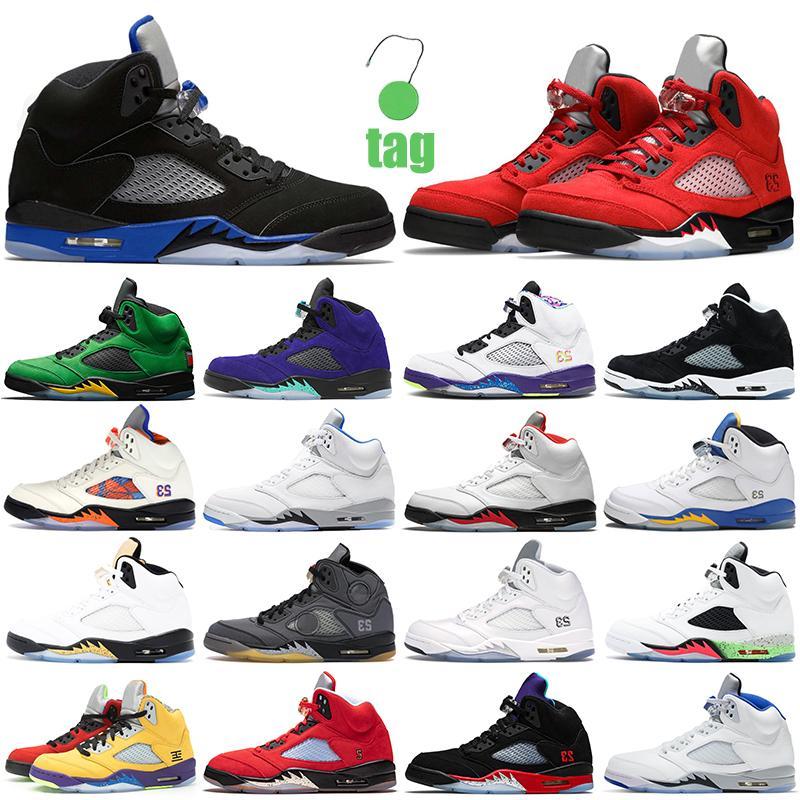 أرخص الهواء الرجعية 5 أحذية رجالية كرة السلة الأولمبية الأردن 5S جوردن المتسابق الأزرق بلوبيرد أوريو مستعار الثور ما الاطفاء الأحمر رجل إمرأة المدربين في الهواء الطلق أحذية رياضية