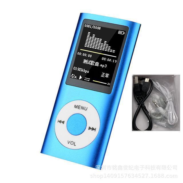 Music Player Radio Hifi MP4 Цифровой ЖК-экран Запись голоса FM Поддерживаемые Windows 98 для Mac OS 10 Портативные MP3-плееры