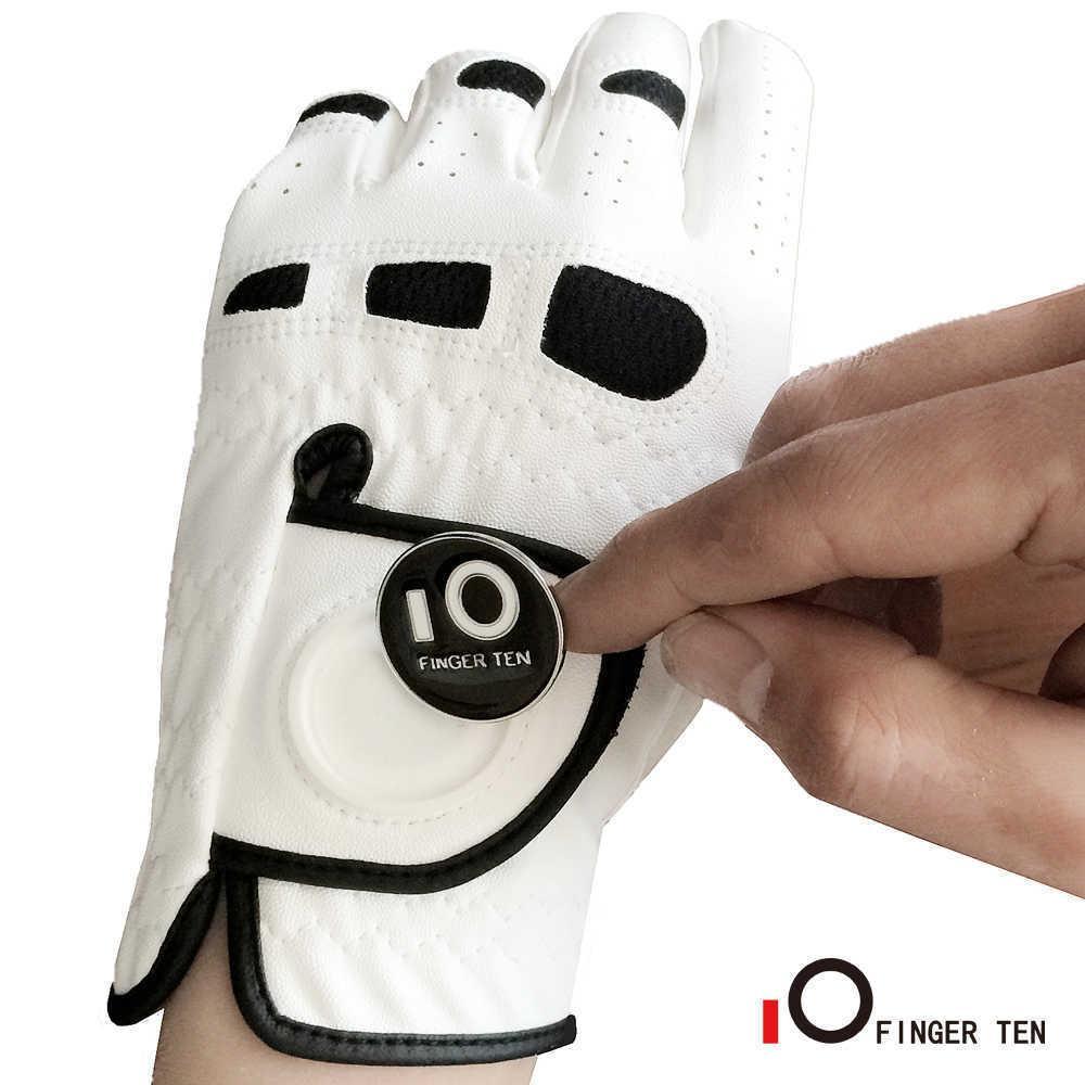قفازات جولف للرجال مع الكرة ماركر اليد اليسرى LH ل golfer اليد اليمنى جميعها قبضة الطقس صالح صغير متوسط مللي
