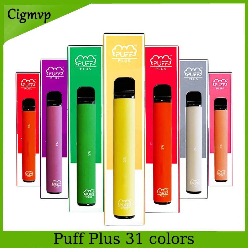퍼프 플러스 일회용 장치 전자 담배 포드 스타터 키트 800 + 퍼프 550mAh 배터리 3.2ml 카트리지 Vape 빈 펜 휴대용 기화기 PK 퍼프 XXL 흐름 Xtra
