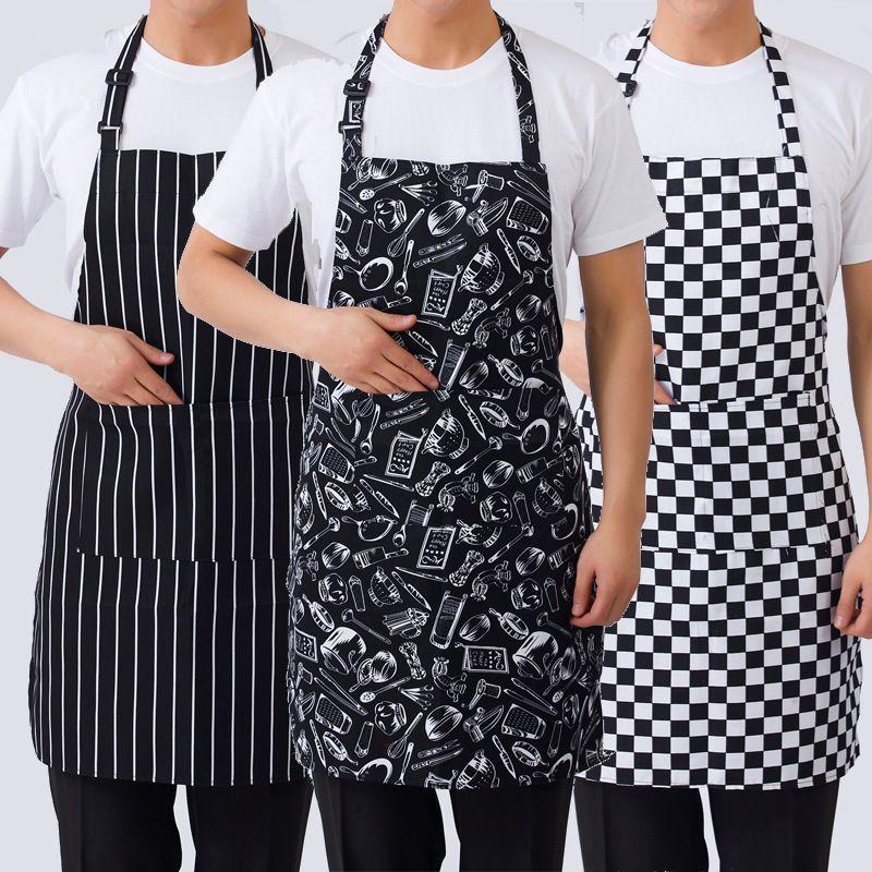 الرجال النساء قابل للتعديل مريلة الشيف ساحة المنزل مطبخ مطعم الخبز الطبخ القهوة بار مكافحة القاذورات مآزر متعدد الألوان