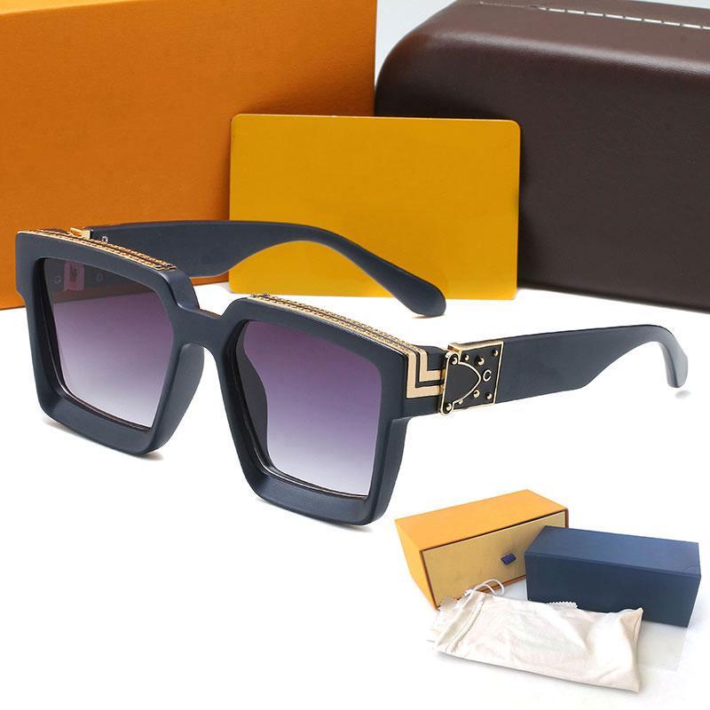 Elevata qualità Millionaire 96006 Womans Gradiente occhiali da sole Guardale in metallo Glasses Luxury Glasses Protezione UV Mens Eye Designer occhiali occhiali occhiali da vista con scatola glitter2009