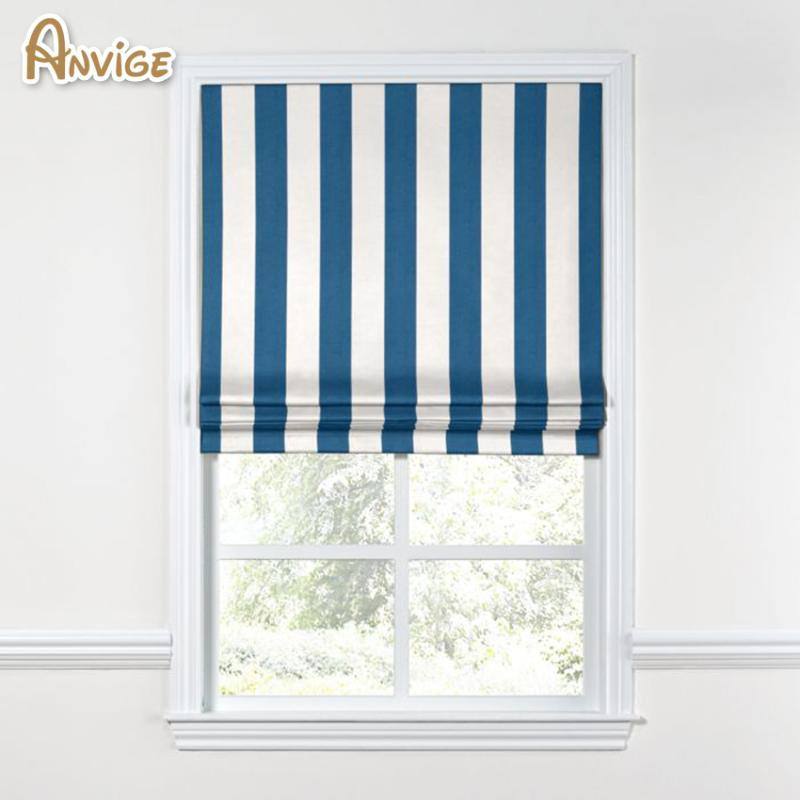 Arrival Modern Geometric Stripes Style Roman Blinds Shades For Living Room Window Curtains