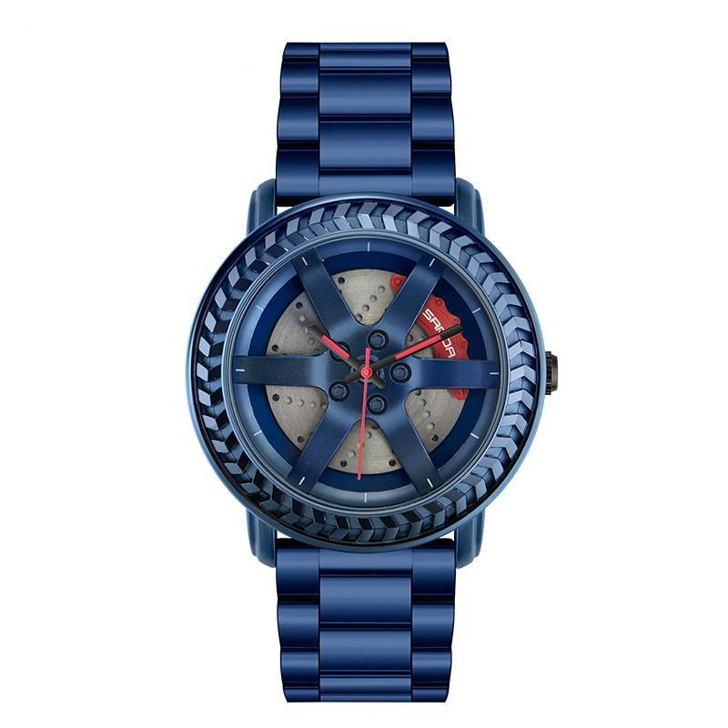 Moda simples e generoso à prova d 'água relógio de quartzo cinto de aço homem estudante relógios de pulso