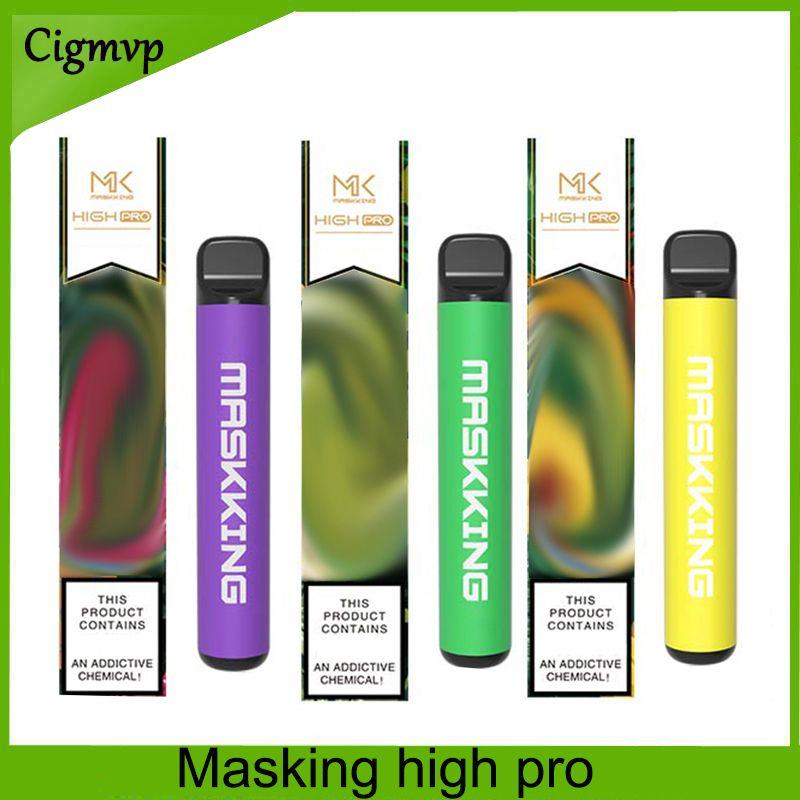 Maskking High Pro E 담배 일회용 장치 US / Russia 버전 1000 퍼프 600mAh 3.5ml 카트리지 VS 에어 바 최대 Bang XXL 0268219
