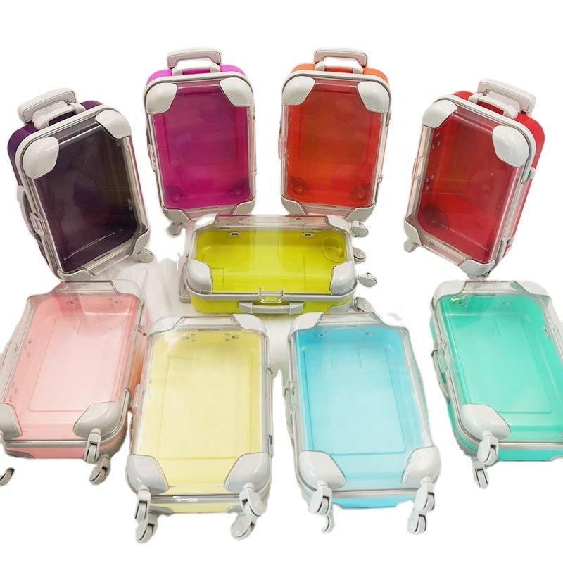 Wholesale Factory Sell Cosmetics Package Luxury MINI Suitcase Eyelash Boxes 25MM 2 Pairs False Eyelashes Packaging 3D Lashes Empty Box Case Custom Logo
