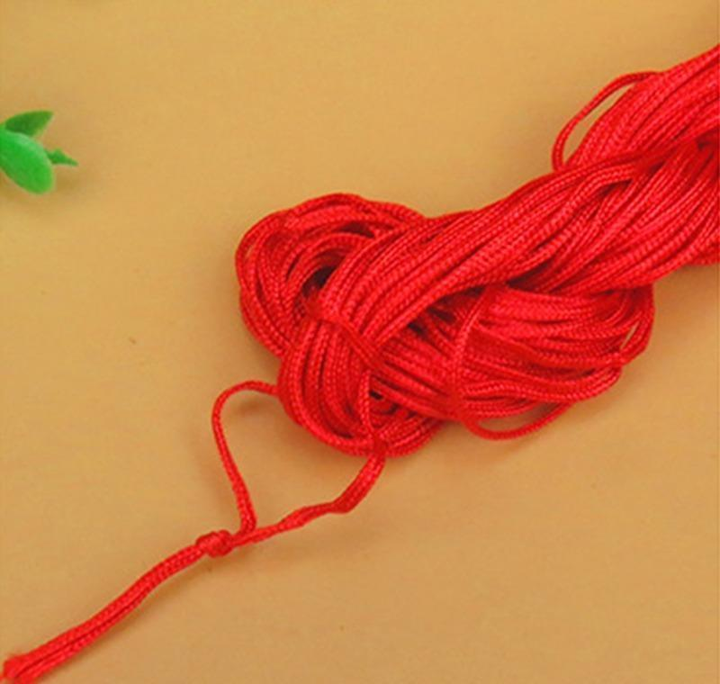 Painting Supplies Ding Coloring Learning Education Toys & Gifts Drop Delivery 2021 27Meters 1Mm Red Cotton Waxed Thread Cord String Strap Nec