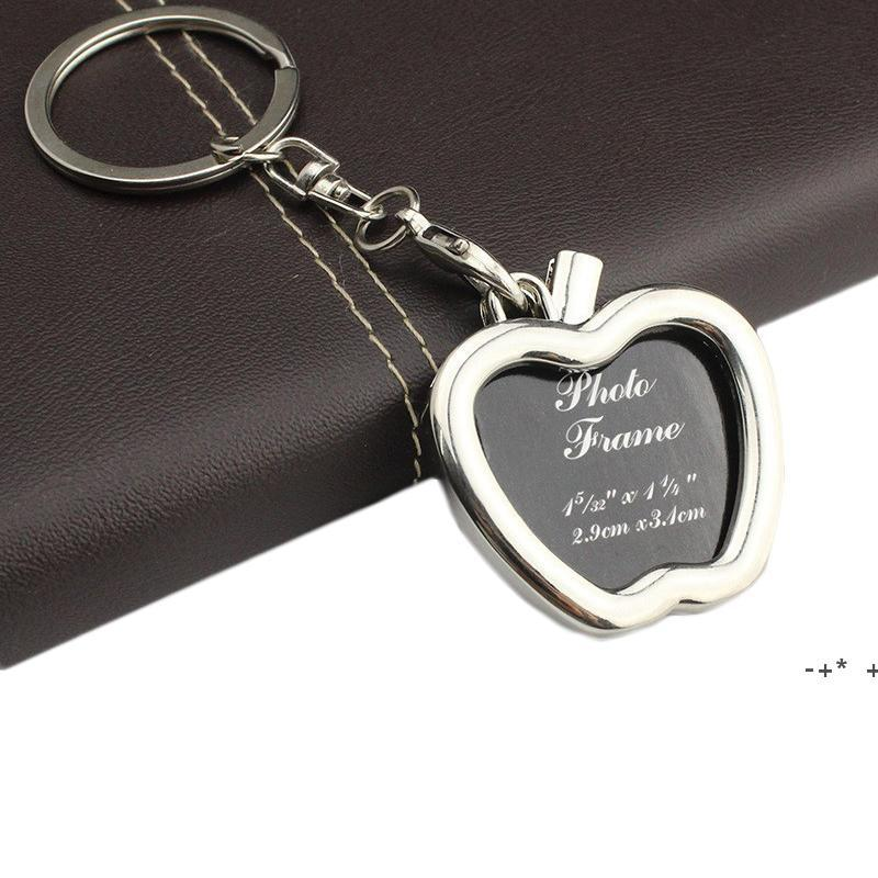 금속 사진 삽입 프레임 열쇠 고리 키 체인 키 손잡이 장식 선물 라운드 하트 마름모 타원형 모양 아연 합금 열쇠 고리 fwe9961