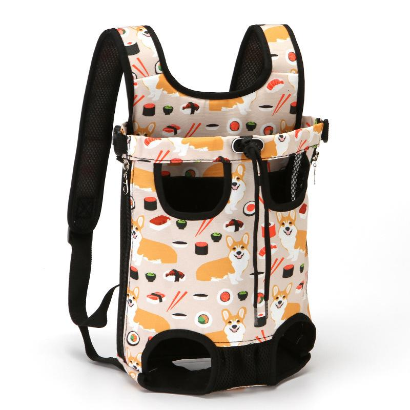 Fold Pet Backpack Go Out Cat Portable Canvas Cowboy Cockroach Dog Chest Bag